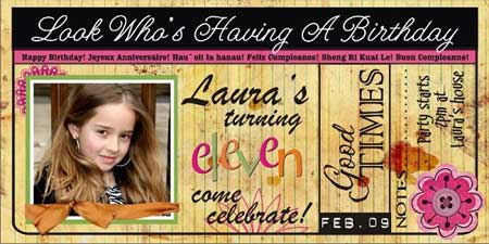Make Photo Birthday Invitations – 11th Birthday Cards