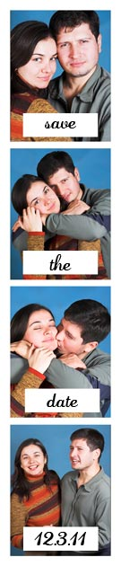 color Photobooth Save the Date Strips
