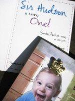 Paper Prince Invitation