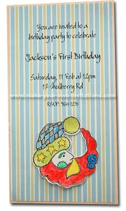 Jacksons 1st birthday invitation
