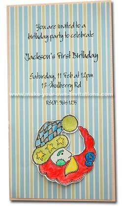 Jacksons 1st birthday invitation