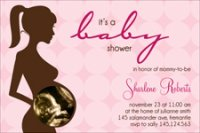 Pink sonogram invitation