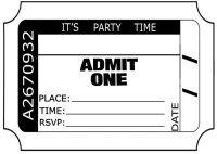 admit one ticket clip art
