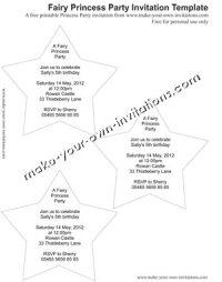 fairy princess invitation template to print