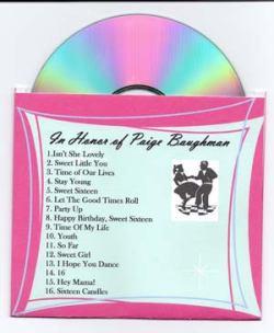 cd Sweet Sixteen Invitations