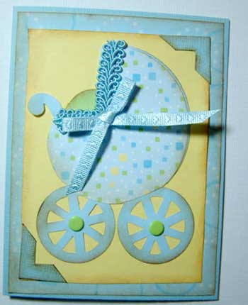 carriage baby shower  invitation card