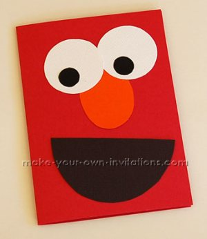 Make Elmo Invitations