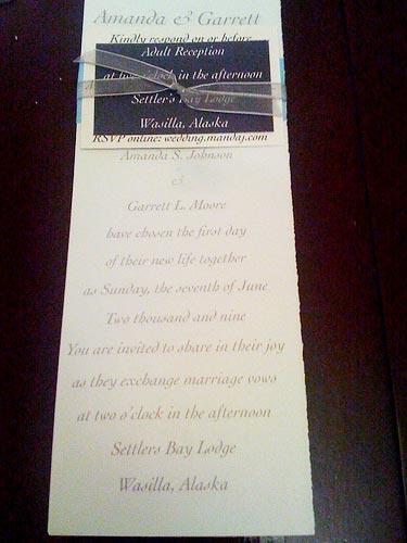 ribbon wedding invites