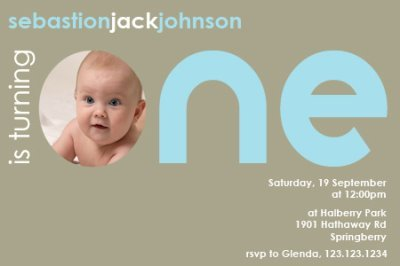 first birthday photo invitation