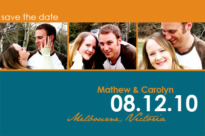 Forever save the date card
