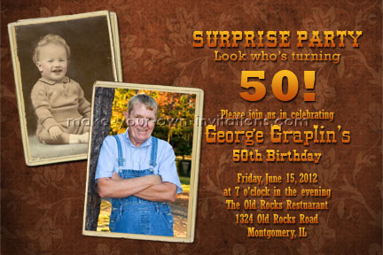 50th birthday invitation design