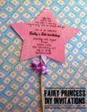 Fairy princess wand invitation tutorial