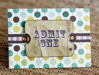 admit one birthday ticket invitation