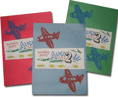 airplane birthday party invitation for a second birthday