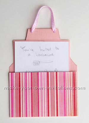 Apron Invitation Card