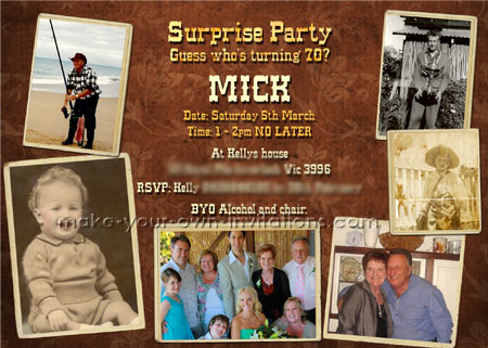 Make 70th birthday invitations how to create your own invites 70th birthday invitations filmwisefo
