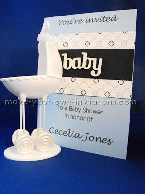 blue baby boy invites