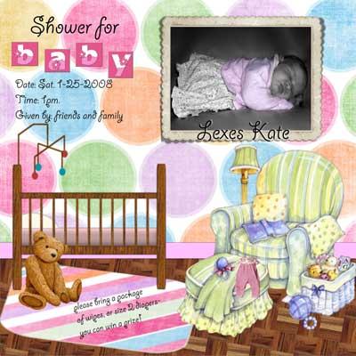 digital babyshower invitations