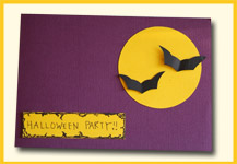 diy bat invitations