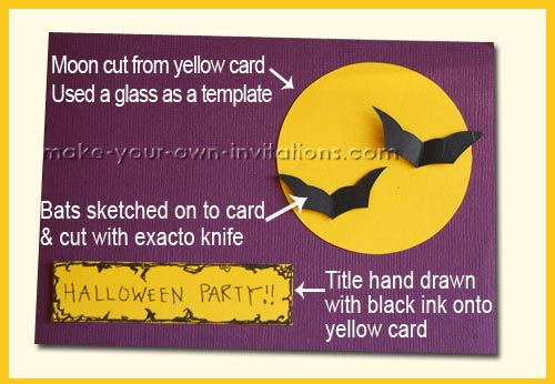 halloween bat invitaitons