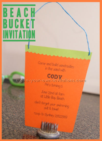 beach themed invitaitons