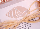 beach shell wedding invitations