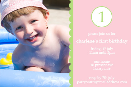 Pink One First Birthday Invitation