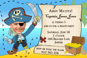 Pirate party invitation 2