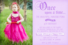 printable princess birthday invitations