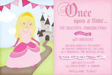 princess birthday invitations