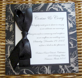 white and black wedding invitations