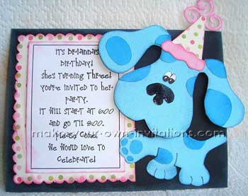 blues clues invite