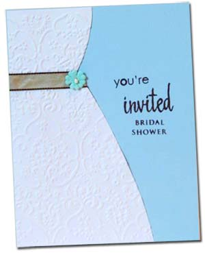wedding dress invitations for a bridal shower