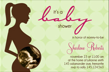 green baby shower invite