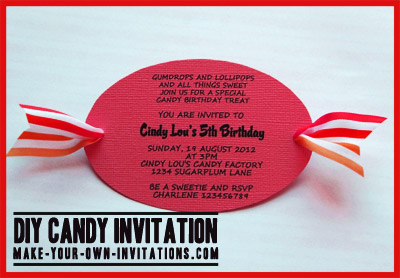 Candyland Party Invitations DIY Tutorial