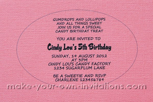 print the candy invitations