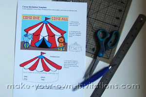 big top carnival party invitation