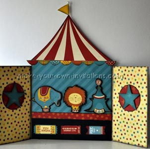 circus tent invitation & Make Circus Party Invitations for a Birthday Carnival
