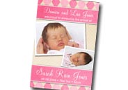 Photo baby birth announcements