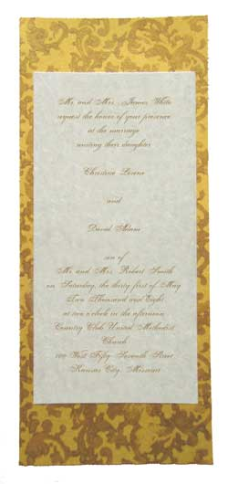 custom wedding invitations in gold