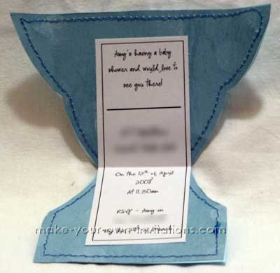 how to make a Diaper Shower Invitation