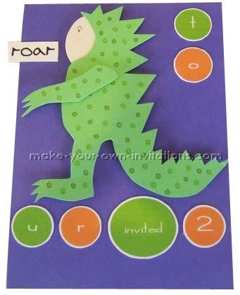 Dinosaur Birthday Invitations  for kids