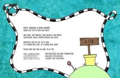 invitation details.