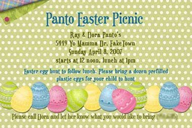 easter invitation make your own party and picnic invitations