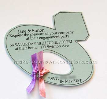 engagement invitations - the diamond ring