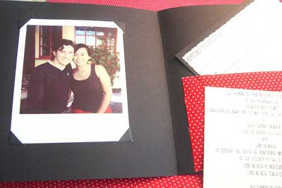 fabric pocket invitations