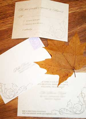 fall wedding invitations the inner details