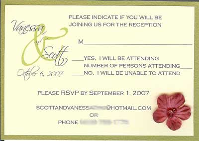 autumn wedding invitations - rsvp card