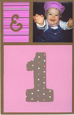 first birthday invitations - the front