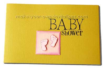 baby shower footprint invitations